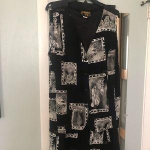 NY InvasionBlk/Off Wht Vest/Skirt Set, 16